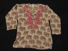 Peek Embroidered Elephant Tunic/Top/Shirt Size XL 10