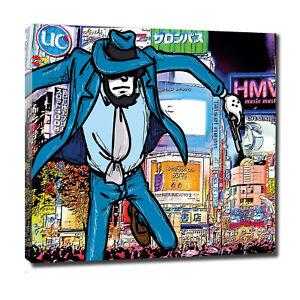 JIGEN lupin canvas  tela quadro  arredo design 60 cm x 60 cm   (bordo da 2 cm)