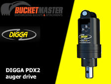 DIGGA PDX2 AUGER DRIVE UNIT TO SUIT SKID STEER, LOADER, POSITRACK AND EXCAVATOR