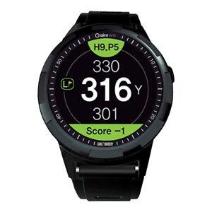 GolfBuddy aimW10 GPS Rangefinder Watch, Black