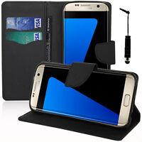 Etui Coque Housse Portefeuille Silicone NOIR Samsung Galaxy S7 Edge G935F