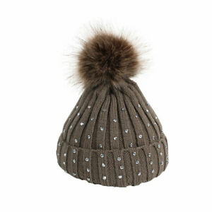 Beanies Baby Hat Pompon Winter Hat Knitted Cap For Girls Boys Hat Baby Beanies