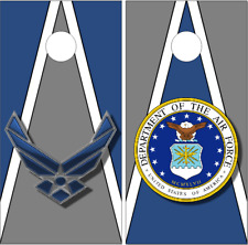 Air Force Seal Wings Triangle LAMINATED Cornhole Wrap Bag Toss Skin Decal