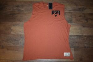 Under Armour Men's Project Rock Show Your BSR Sleeveless 4744 Size XL Orange NWT