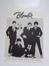 Blondie Fan club postcard