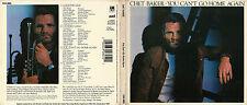 RARE PRESSAGE U.S 1989 CD DIGIPACK JAZZ CHET BAKER / YOU CAN'T GO HOME AGAIN