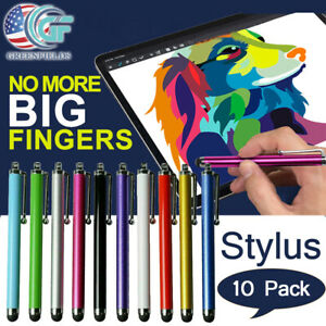 10X Metal Universal Stylus Pen Touch Screen For Tablet Mobile Phone iPad iPod PC