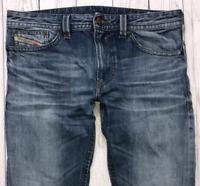 Mens DIESEL Thavar Jeans W32 L30 Blue Slim Skinny Fit Wash 0817C