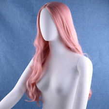Long Wavy Curly Pastel Blonde Full Head Heat Resistant Hair Lace Front Wig
