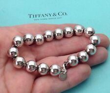 Tiffany & Co. Sterling Silver 10mm Bead Bracelet 7 1/2 Inch