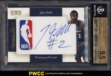2010 National Treasures NBA Logoman John Wall RC AUTO PATCH /10 BGS 9.5 (PWCC)