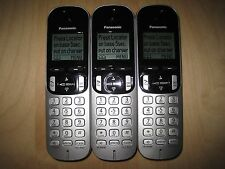 Lot of 3 Panasonic Kx-Tgca21 Dect 6.0 Cordless Expansion Handset Phone