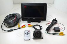 "7"" TFT LCD Rear View Monitor Camera Back Up System Set Universal RV Car Truck"
