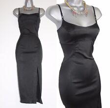 KAREN MILLEN BLACK SNAKE PRINT STRAPS STRETCH BODYCON PARTY EVENING DRESS UK10