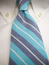 BROOKS BROTHERS Slim Silk Linen Tie XL Extra Long - $79.50 ~ NWT  New  USA