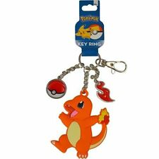 NWT NEW LICENSED NINTENDO POKEMON CHARMANDER KEY CHAIN RING W CHARMS