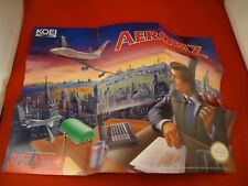 Aerobiz Super Nintendo SNES Foldable Promo Poster Insert ONLY