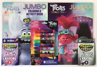 5pc Trolls World Tour Coloring Activity & Word Search Books Crayons Markers