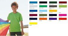 Fruit of the Loom F110K T Shirt Kinder Junge Mädchen 104 116 128 140 152 164