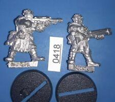 2 Cawdor Ganger's Shotgun + Lasgun Necromunda Underhive METAL 1995 Gang Citadel