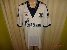"""FC Schalke 04 Original Adidas Auswärts Trikot 2013/14 """"GAZPROM"""" Gr.XXL Neu"""