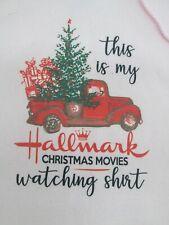 Mens hoodie Sweatshirt Small Pink Hallmark Christmas Movie watching Shirt New G