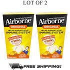 Airborne Original support Immune System Vitamin C - Citrus Flavor - Lot of 2