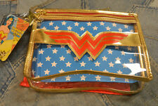 Wonder Woman SOHO Cosmetic Makeup Bag Organizer Tote Clear with Cape Walgreens