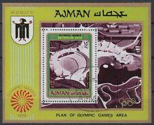 Ajman 1971 used Bl.234 A Olympische Spiele Olympic Games München Munich Sport