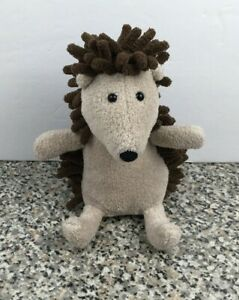 """Jellycat Noodle Hedgehog Plush Stuffed Animal Brown Toy Small 5"""" HTF"""