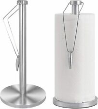 Stand Up Paper Towel Holder Metal Sturdy Kitchen Counter Top Decorative