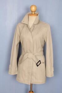 Womens BURBERRY Bespoke Short TRENCH Coat Mac Beige UK 12/14