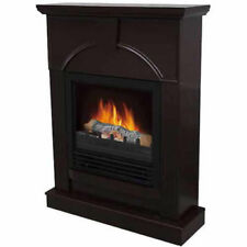 """Electric Fireplace Heater Indoor Living Room Bed with 26"""" Mantle Dark Chocolate"""