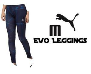 Women's L Puma Tight Fit Evo Leggings Peacoat New w/ Tags