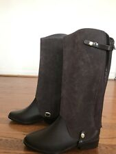 MELISSA BROWN BOOTS RIDING HIGH REMOVABLE RAIN BOOTS FLOCKED SHAFT USA 8 EUR 39