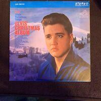 Elvis Presley - Elvis' Christmas Album -  OG 1957 RCA vinyl LP - BLUE CHRISTMAS