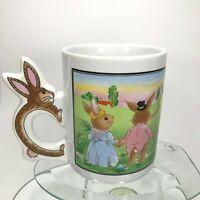 Vintage Peter Rabbit Coffee Mug W/ Bunny Handle Design Ceramic Japan Tea Cup C14