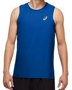 Asics mens running vest SIZE L SPORTS SINGLET TUNA BLUE RUNNING RRP £18
