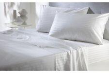 """All Size Bedding Items (15"""" Drop) 100% Egyptian Cotton 1000 TC White Stripe"""