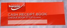 CASH RECEIPT BOOK CHEQUE BOOK STYLE 40 LEAVES TOP QUALITY RECEIPT