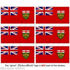 ONTARIO Province Flag Canada Canadian Mobile Cell Phone Mini Stickers, Decals x6