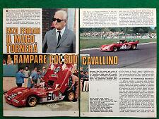 (CC62) Clipping Ritaglio (Anni '70) - ENZO FERRARI , CLAY REGAZZONI