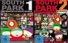 6 DVDs * SOUTH PARK - STAFFEL / SEASON 1 + 2 IM SET # NEU OVP +
