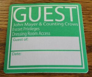Vintage & Genuine John Mayer & Counting Crows Green Escort OTTO Backstage Pass