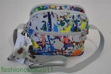 New Kipling KEEFE Travel Small Crossbody Bag with Keychain -Bright Splash Grey