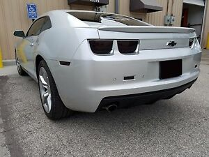 fits 2010-13 Camaro 10pc Smoked Tail Light + Side Marker + Reverse Tint Overlays