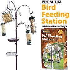 Garden Wild Bird Feeding Station Water Bath Seed Tray Hanging Feeders Included