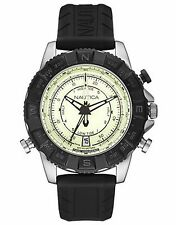 NAUTICA MEN'S QUARTZ TIDE,AND COMPASS STAINLESS  WATCH, NAI21004G NEW.