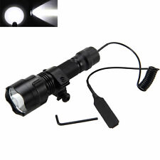 1 Mode 5000lm XML T6 LED Tactical Flashlight Torch Light Hunting Gun Rifle Mount