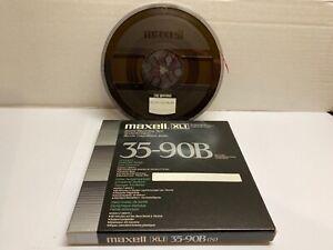 "Maxell XLI 35-90B 7"" Reel To Reel Plastic Spool With 1/4"" High Quality Tape"